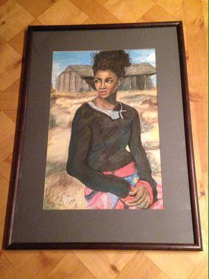 "Myra Kraemer ""Jamica"" 14""x 21"" ( framed & matted) - $100 for Sale in Scottsdale, AZ"