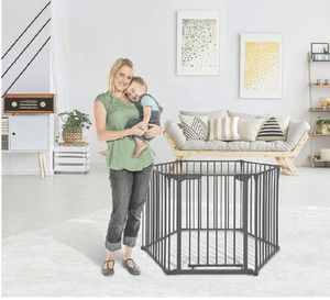 Little Chicks Oxford 3-in-1 Play Yard, Wide Barrier Gate, and Fireplace Guard. Can be used as a play yard, wide barrier gate or fireplace guard for Sale in Los Angeles, CA