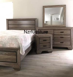 (BRAND NEW) 5-PC Queen Rustic Grey Bedroom Set for Sale in Stafford, TX