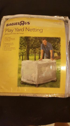 Play pen cover. Play yard netting for Sale in Las Vegas, NV