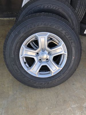 Like new Jeep wheels and tires for Sale in Irvine, CA