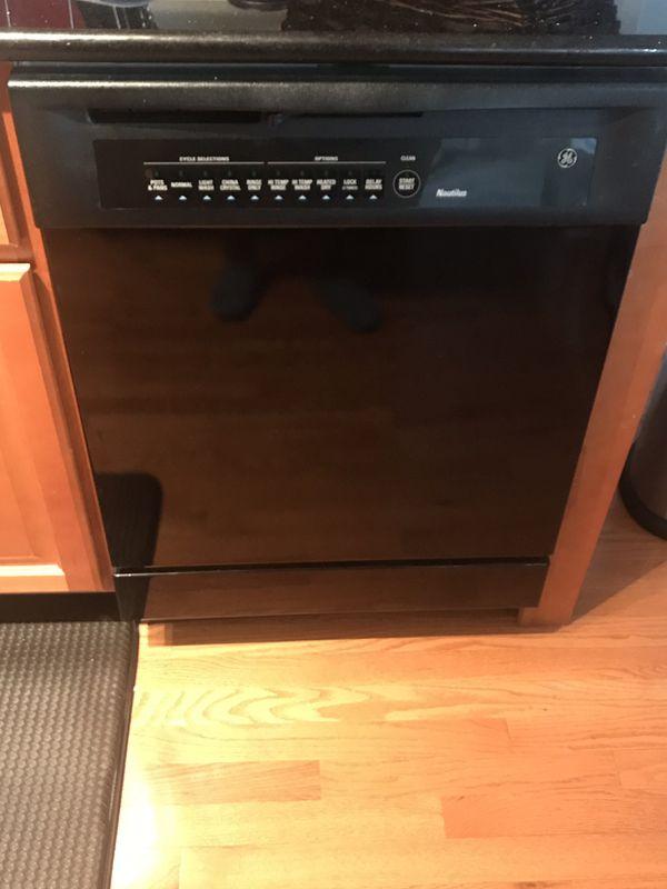 Black GE Dishwasher