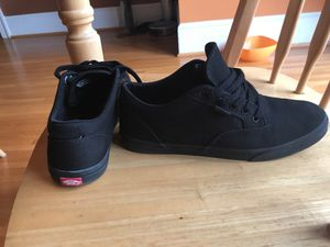 All black Vans size women's 8 for Sale in Silver Spring, MD