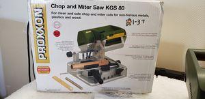 Proxxon 37160 KGS 80 MICRO Chop Saw for Sale in Henderson, NV