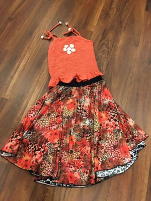 Used, Boho Chic Girls Top and Reversible Skirt size 9-10 for Sale for sale  Bellevue, WA