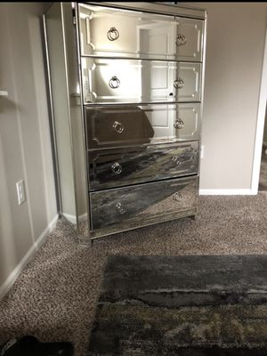 Z Gallerie Mirror Dresser Chest and nightstand for Sale in Maple Valley, WA