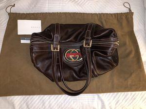 Vintage Gucci Boston Britt Bag in Chocolate Brown Leather for Sale in Glencoe, IL