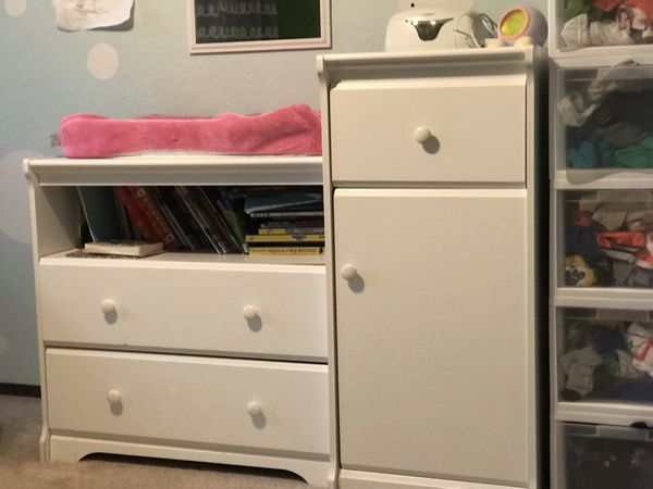 Changing table dresser & baby wipe warmer