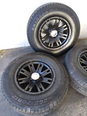 """17"""" rims with new tires for Sale in Las Vegas, NV"""