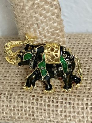 Betsey Johnson Lovely Animal Elephant Enamel Crystal Brooch Pin Women Costume for Sale in Los Altos, CA