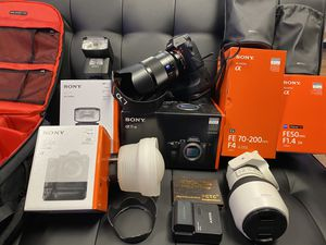 "Sony A7RIII Camera Bundle with 50m 1.4 lens / 70-200m F4 lens - MacBook Pro 16"" Newest Model for Sale in Canton, OH"
