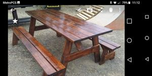Indoor outdoor furniture locally made. View more products on Facebook group page Bomottis Woodworks for Sale in Damascus, OR
