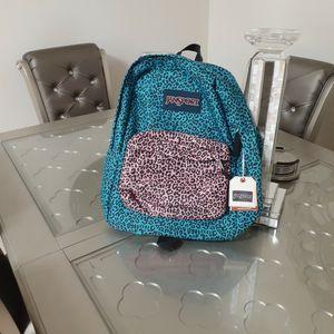 Jansport Superbreak Peacock Blue Leopard Life Backpack for Sale in Chula Vista, CA