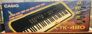 Casio song-bank keyboard CTK-480 with stand for Sale in Ceres, CA