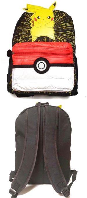 NEW! Pokemon Pikachu Backpack Pikachu detective pokemon go cards game movie kids bag school bag kids bag travel bag Book bag Back to school for Sale in Carson, CA