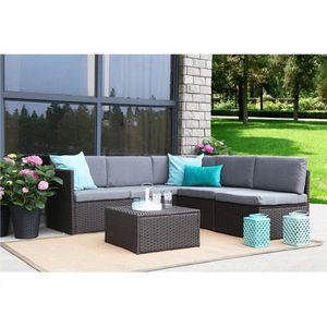Catharine Outdoor 4 Piece Sofa Seating Group with Cushions Patio Furniture for Sale in Kissimmee, FL