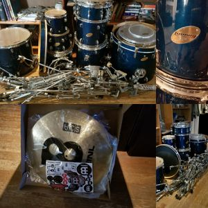 Ludwig Evans Accent Customs CS Drum Set - All New Hardware - New, In the Box, Meinl Cymbals Disassembled and ready to go, Sorry no stool or sticks. for Sale in Henderson, NV
