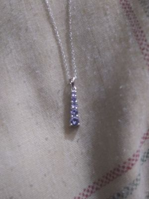 10kt gold with tanzanite pendant necklace. for Sale in Gaithersburg, MD