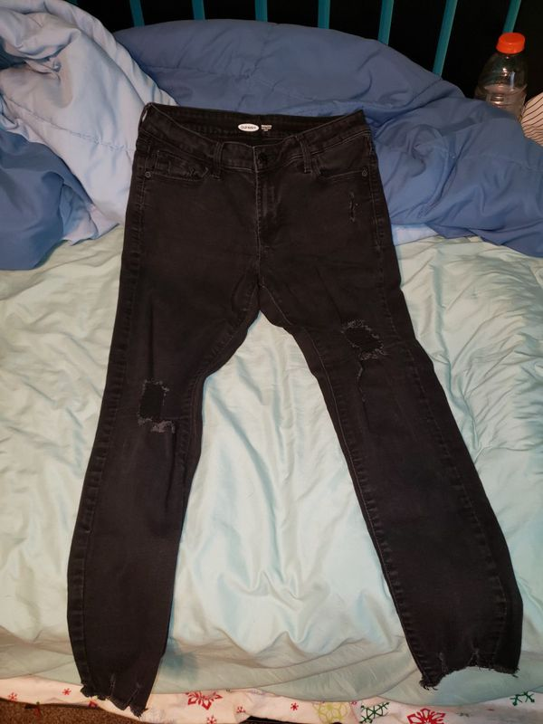 Old Navy black ripped jeans