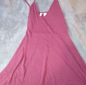 H&M Wine/Purple-red skater dress for Sale in Port Washington, NY
