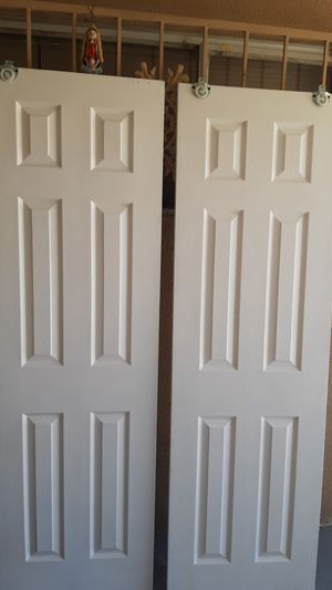"""Closet doors 24""""×80"""" 2 for 50 for Sale in Las Vegas, NV"""