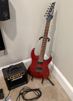 WTS Ibanez guitar, Marshall amp, bag & extras for Sale in Arlington, VA