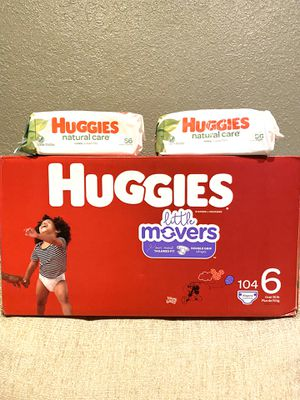Huggies Size 6/wipes📍NO DELIVERY📍READ DESCRIPTION FOR LOCATION📍 for Sale in Norwalk, CA