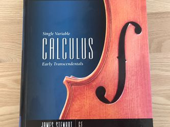 Textbook: Single Variable Calculus: Early Transcendentals 6E By James Stewart for Sale in San Francisco,  CA