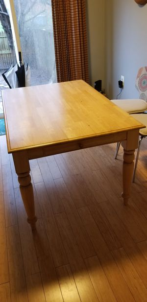 Farmhouse Style Butcher Block Table w/ Drawers $50 FIRM for Sale in Woodbridge, VA