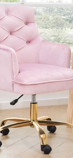 Velvet work chair, office chair, for home office (pink) for Sale in Hacienda Heights,  CA