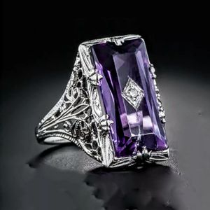 Silver Amethyst Ring Size 8 for Sale in Wichita, KS