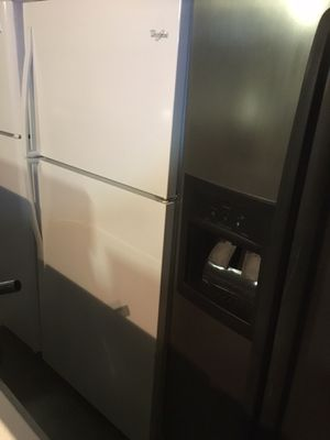 White whirlpool refrigerators/ 33 inch wide/ one year warranty for Sale in Durham, NC