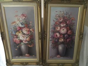 Antique Oil on Canvas Set for Sale in Cooper City, FL