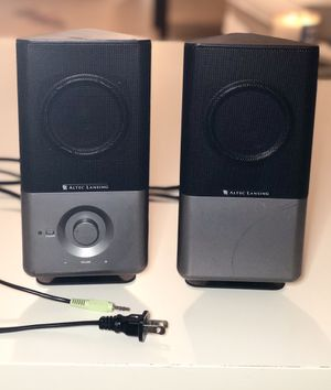 "Altec Lansing 220 Full Stereo Amplified Computer Speaker /Desktop Speaker /Laptop Speaker - 18000Hz, 70dB, size 4.4""x 4.3""x9.3"". Rich and clear sound for Sale in Pompano Beach, FL"
