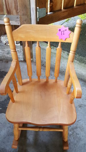 Kids wooden rocking chair for Sale in Woodway, WA