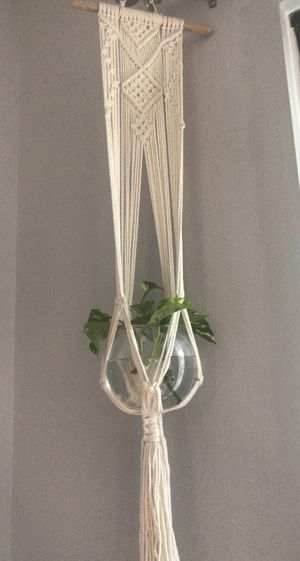 """Macrame plant hanger with 6"""" rose bowl for Sale in Washington, DC"""