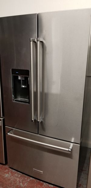 Kitchen aid refrigerator 3 door stainless steel for Sale in San Antonio, TX