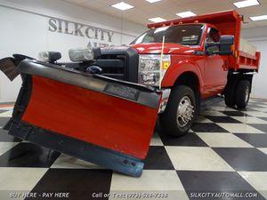 2011 Ford F-350 Mason Dump Truck 4x4 w/ V Snow Plow for Sale in Paterson, NJ