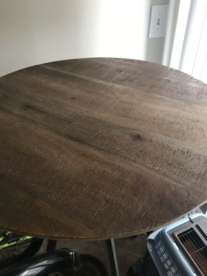 Tall wood modern table- new no chairs for Sale in Germantown, MD