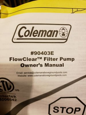 Coleman filter pump for Sale in Remington, VA