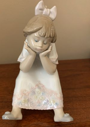 "Lladro #5649 ""Nothing to Do""—Retired Figurine, Girl on Stool for Sale in Springfield, MA"