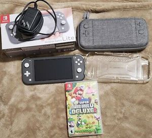 Nintendo Switch Lite with Super Mario Bros.U Deluxe and Hard/Protective Case for Sale in Los Angeles, CA