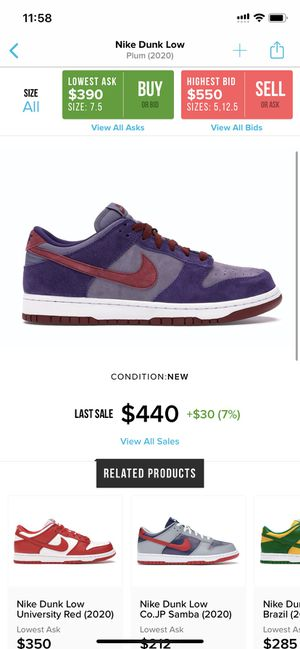 Nike sb dunk plum for Sale in Mesquite, TX