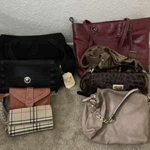 6 Purses And Two Wallets 10 For All :) for Sale in Corona, CA