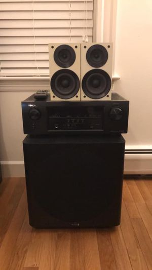 Stereo Home Theater Speaker Set for Sale in Stow, MA