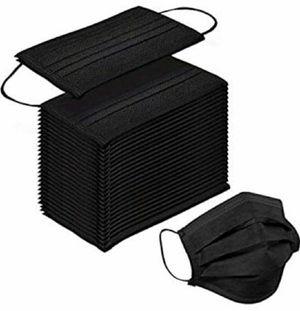50 Piece per box Black Disposable Face Mask / 50 Piezas por caja Mascarillas Negras Desechables for Sale in El Monte, CA