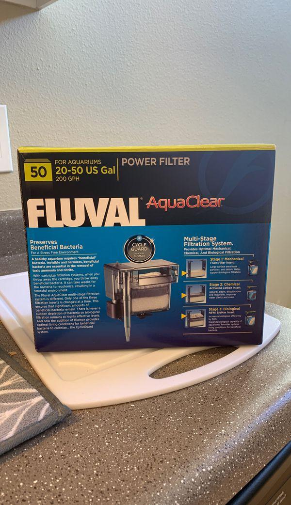 Aquaclear aquarium filter, 50 gallon