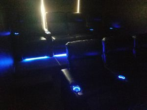 (2) Power theater recliners with LED lighting for Sale in Ashburn, VA
