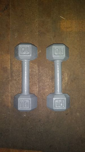 (2) 10 lb hex weights, 20 lb total for Sale in Harrisburg, PA