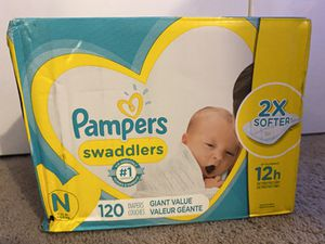 Pampers Newborn Diapers - 120 ct for Sale in Warrenville, IL